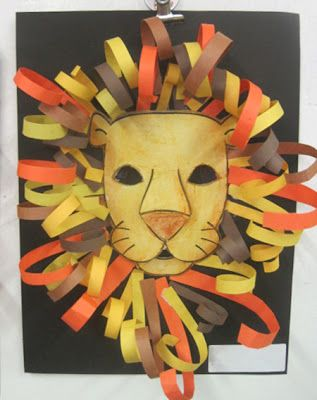 Construction Paper Lion Heads Lion Craft Lion King Crafts Kids