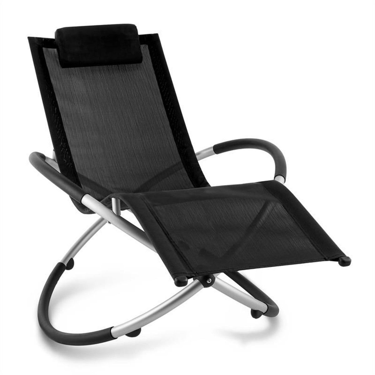 Chaise Aluminium Longue Chilly Taille Billy Jardin Transat Noir EH29IWD