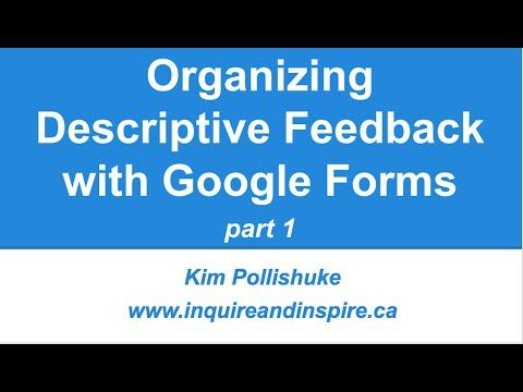 Free Technology for Teachers Organizing Descriptive Feedback with - google docs spreadsheet