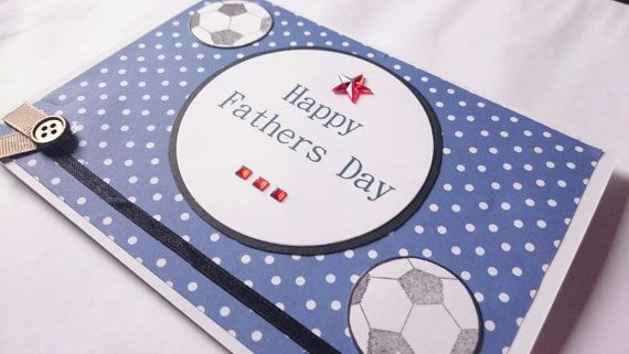 Football Themed Happy Fathers Day Card Happy Fathers Day Fathers Day Cards Happy Father