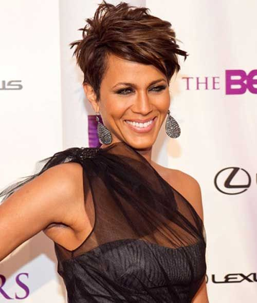 Celebrity Short Haircuts for Women | Celebrity short haircuts, Short ...