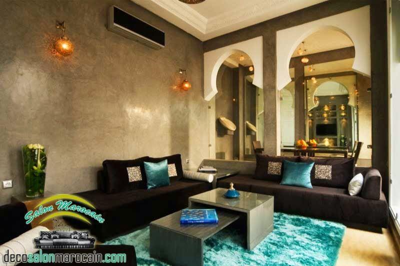 Salon marocain moderne marron 2015 | salon marocain | Moroccan ...
