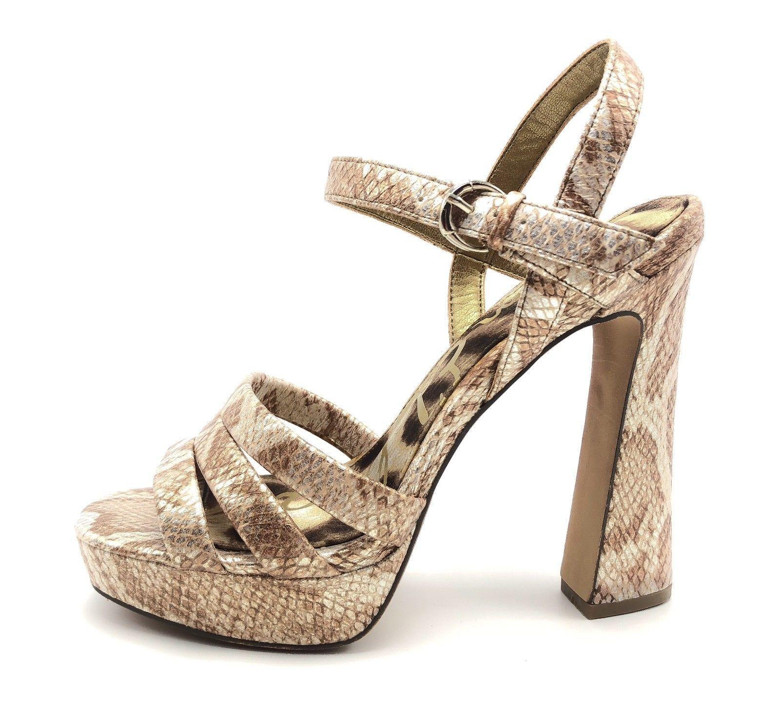 5e4a2646022f 35.95 ❤ Sam Edelman Taryn Ice Shimmer Womens 7.5M Snake Print Platform Heels  Sandals