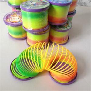 Plastic Magic Rainbow Coil Spring Slinky Colorful Novelties Development Toy