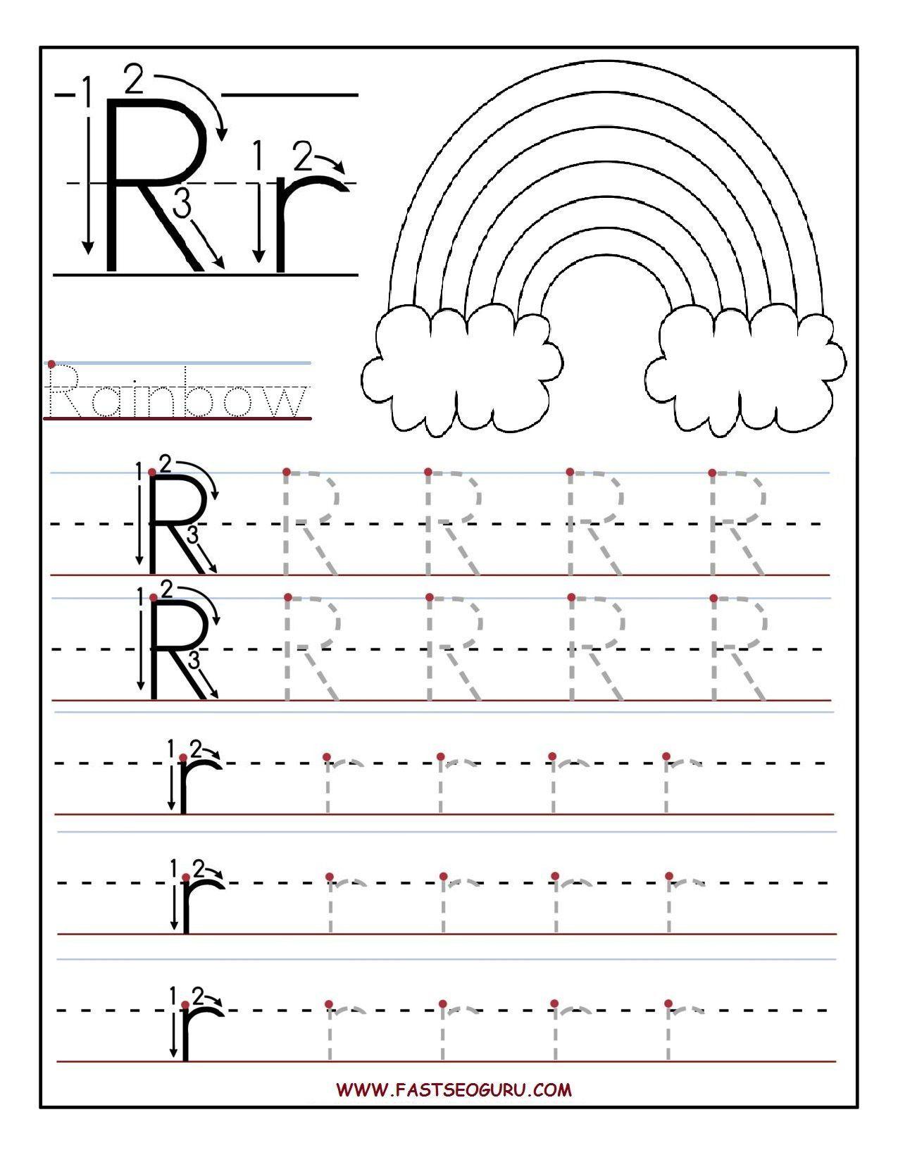 Rainbow Writing Worksheet Preschool
