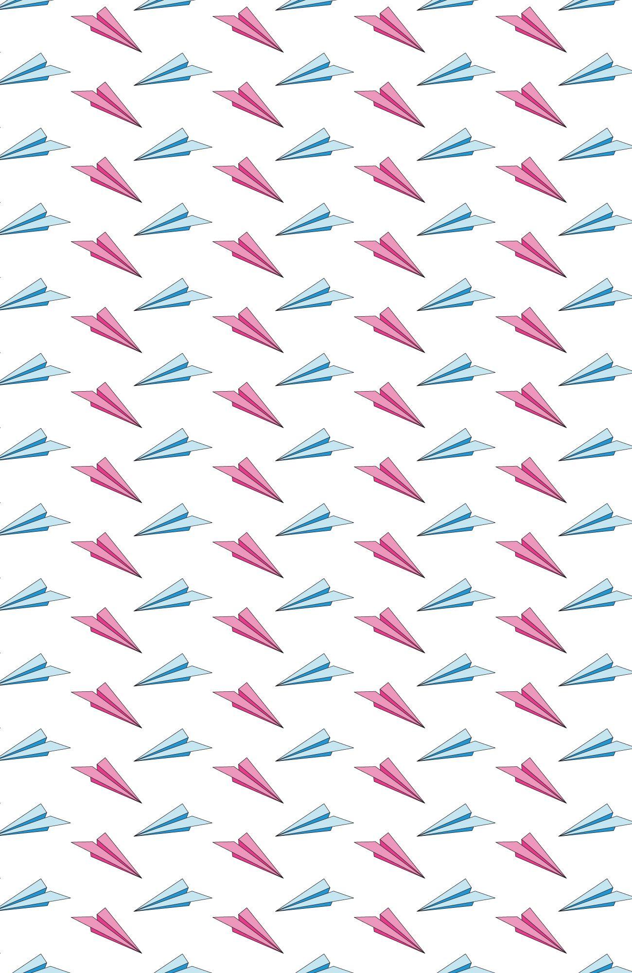#paper #paperplane #pattern #patterndesign #textile #fashion #illustration #exit2wonderland #plane #childhood #pink #blue #graphic #illustrator #vector #colorful #playful #fly #flyinf
