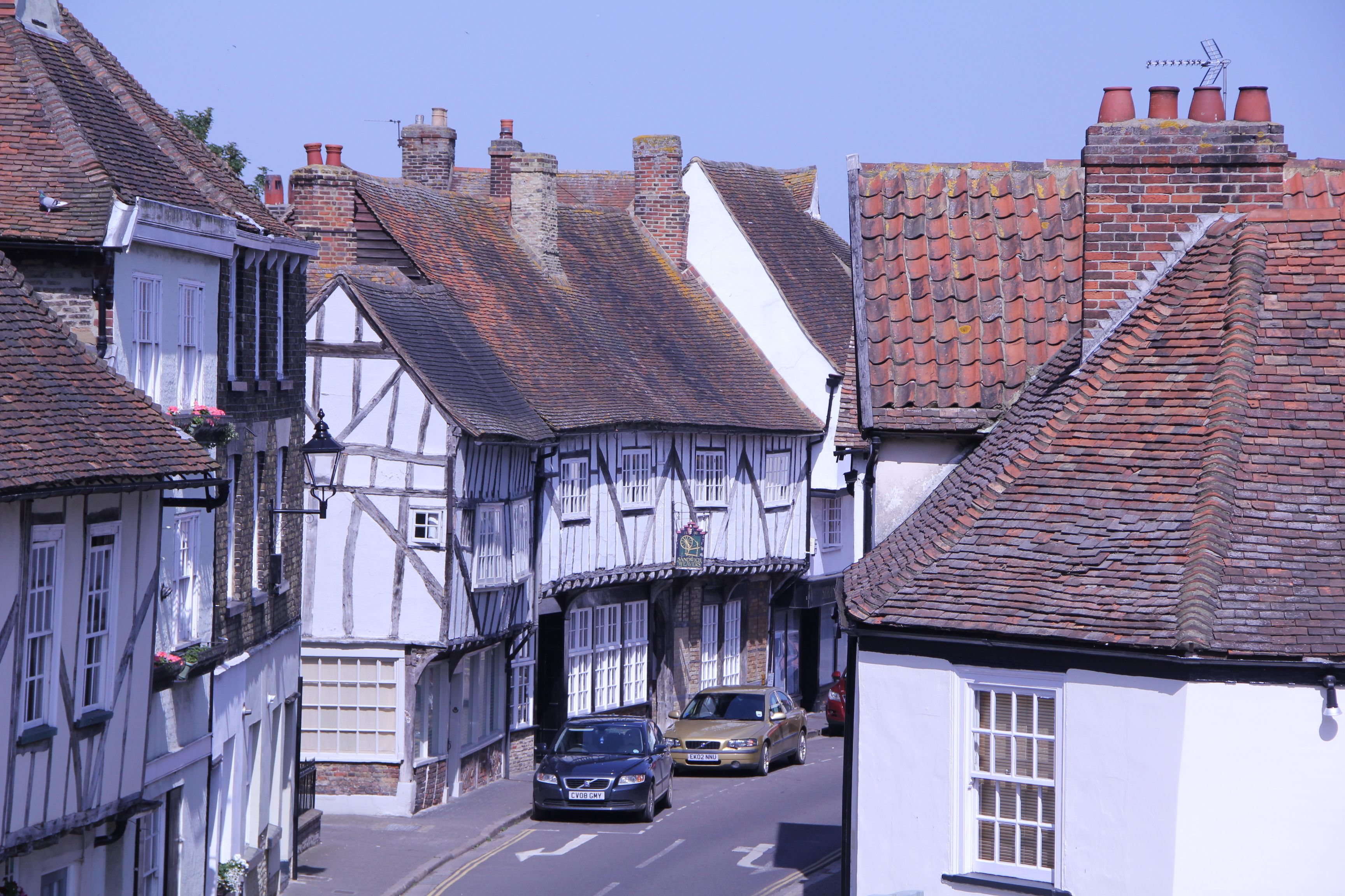 A view of the town of sandwich england houses homes