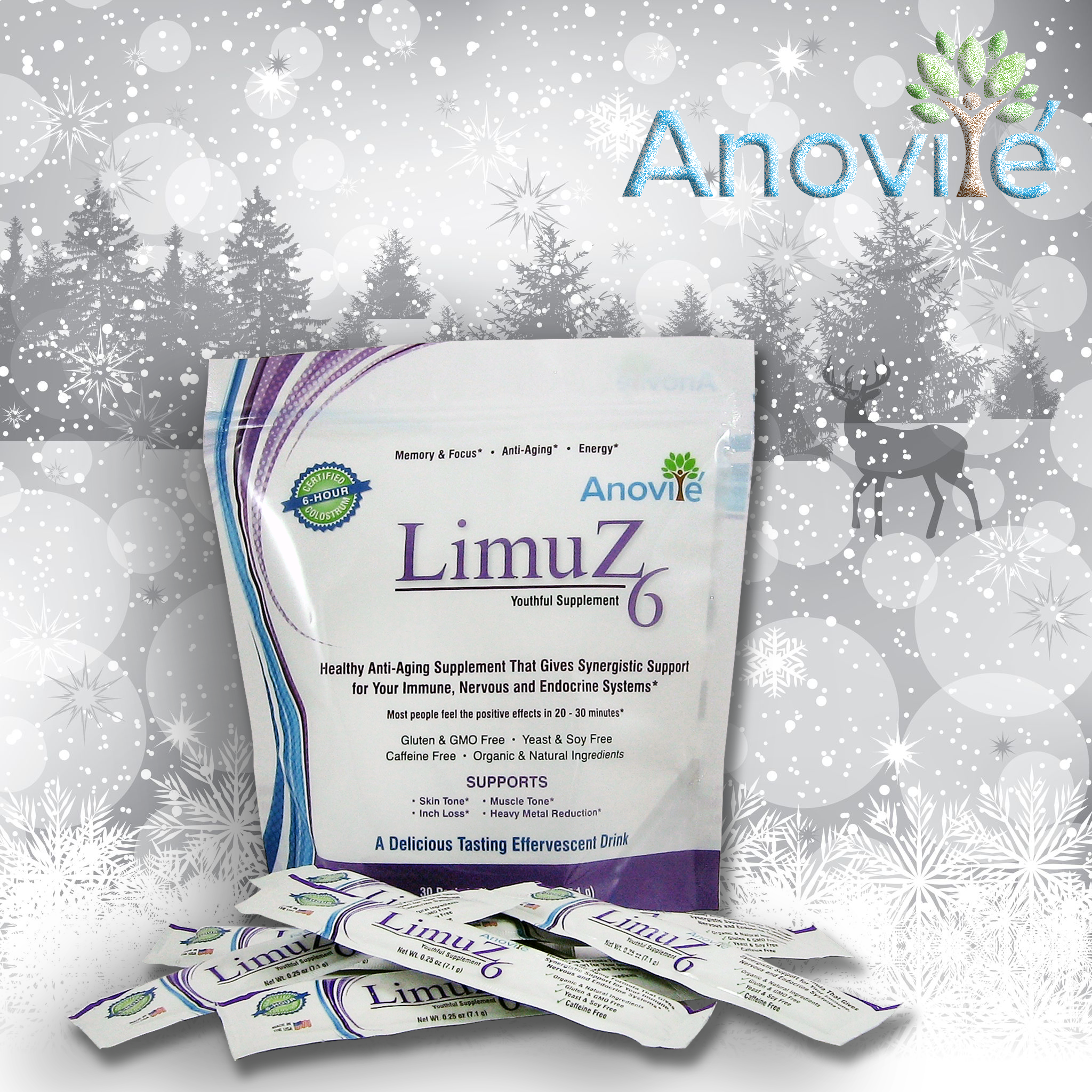 LimuZ is the first nutritional product which focuses on (4) four major systems of the body; Endocrine, Nervous, Immune and Pineal.