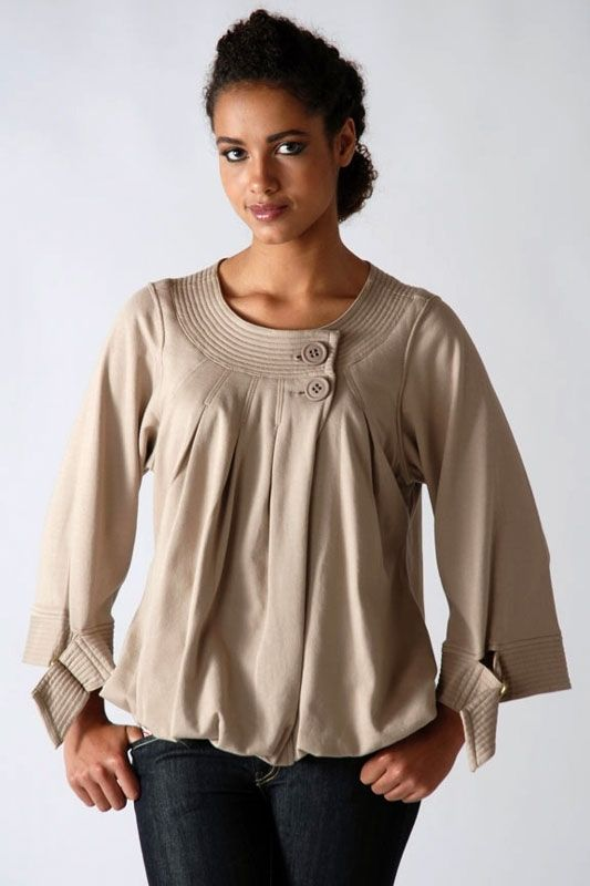 Фасоны модных блуз с