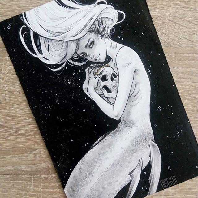 Pin by Maryse Mullin on Inked ✒️ in 2020 | Mermaid artwork, Mermaid drawings, Mermaid art