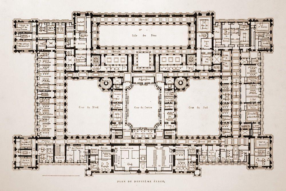 Floor plan of the Hôtel de Ville, Paris | Hotel floor plan ... on