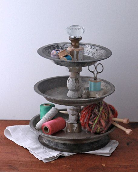 Diy 3 Tier Jewelry Stand: 3 Tier Desk Supply Organizer Caddy From Repurposed