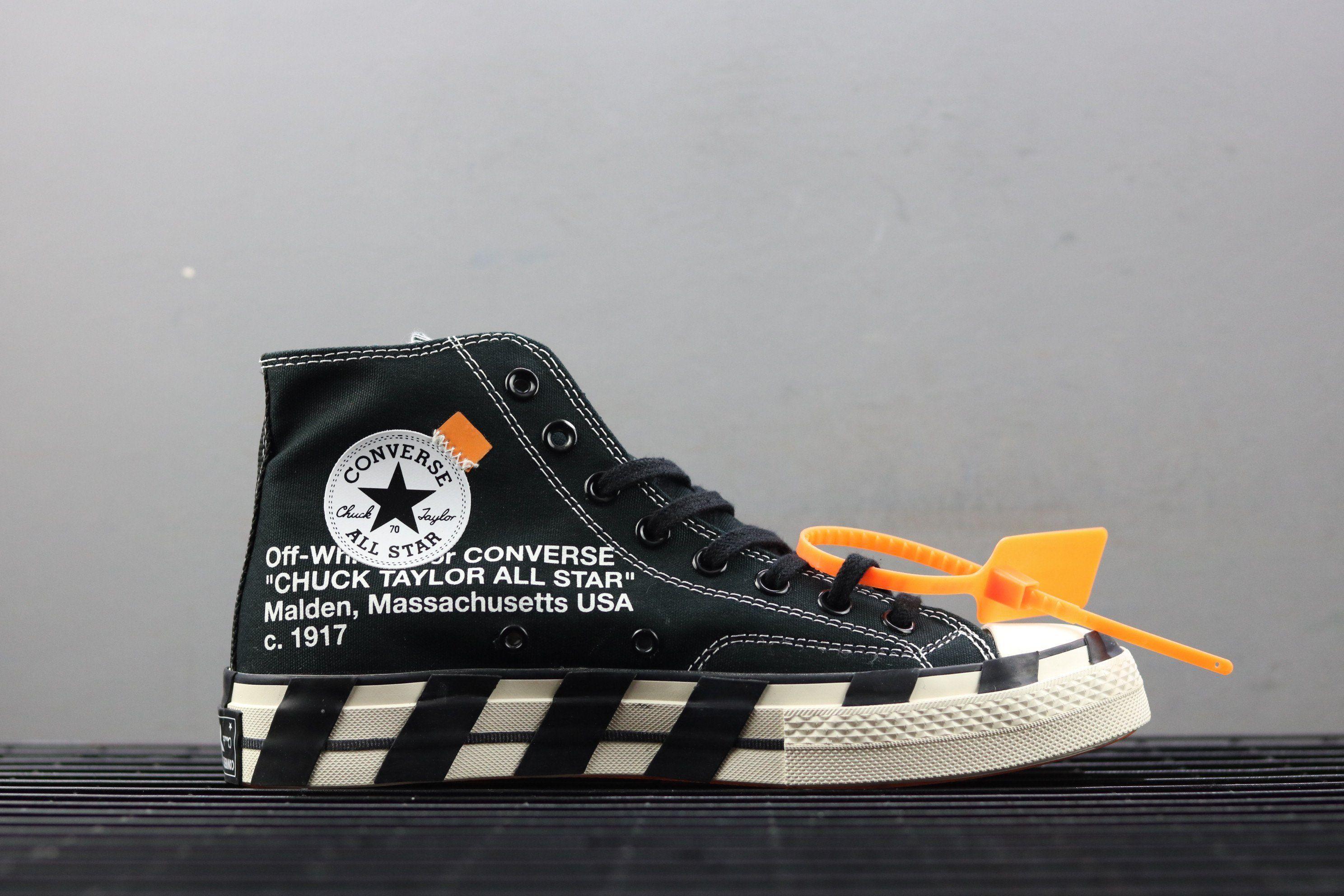 Off White x Converse All Star Black 2.0 #1638**C | Vans