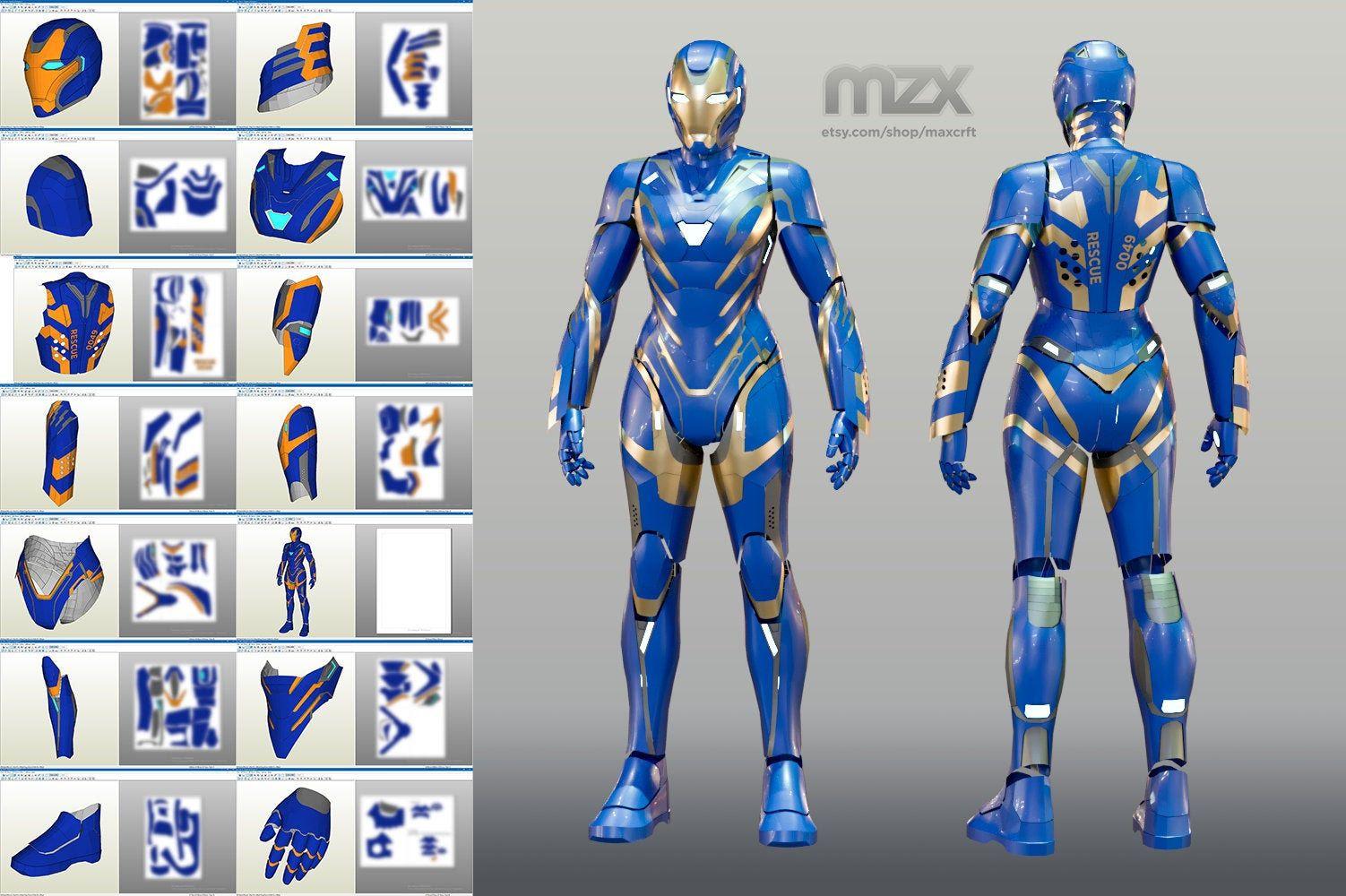 Pepper's «Rescue» Mark 49 wearable suit, Pepakura pattern