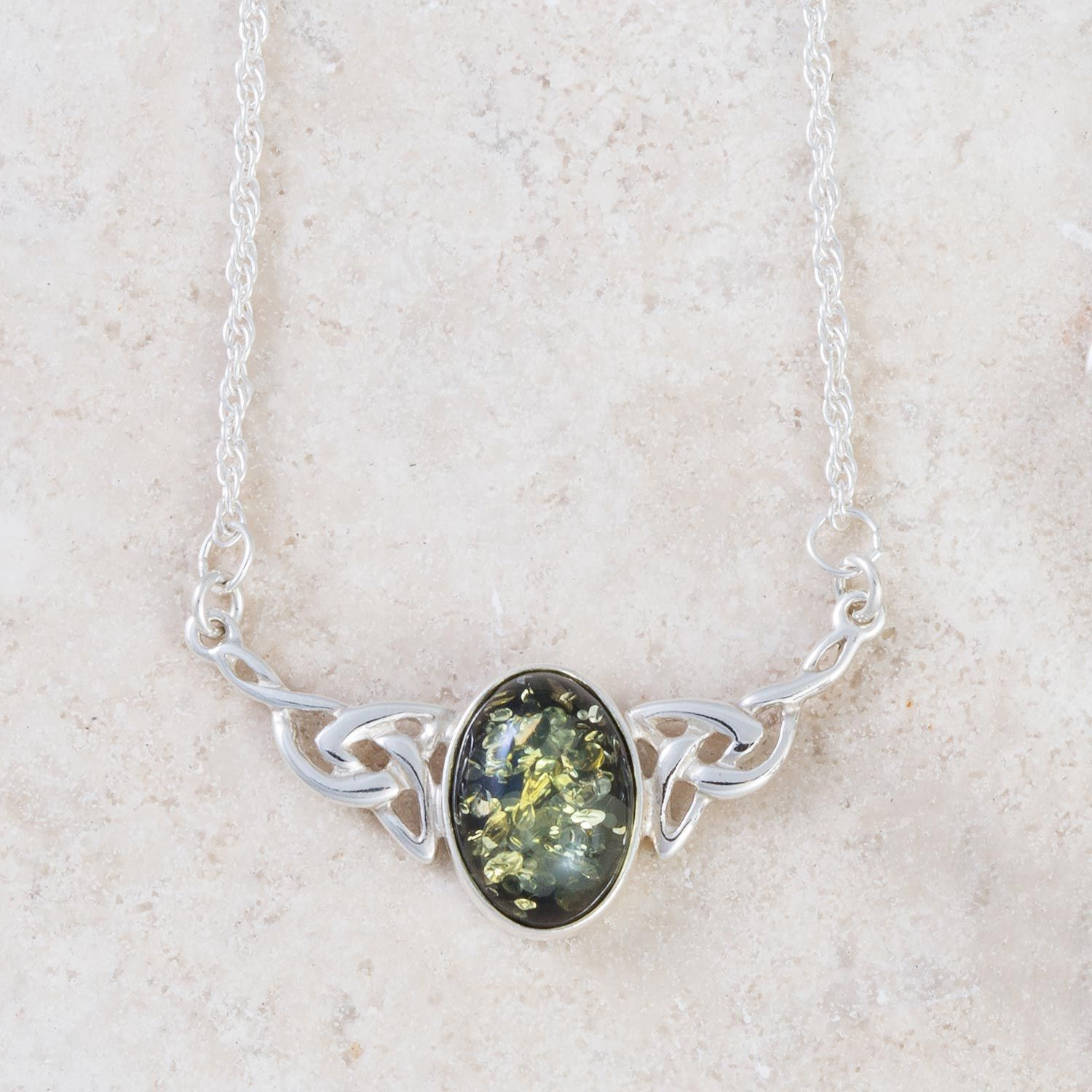 Green Amber Celtic Necklace (With Images)