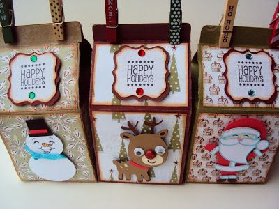 Milk Carton gift containers by Crafted With Love By Karen - these are so cute!
