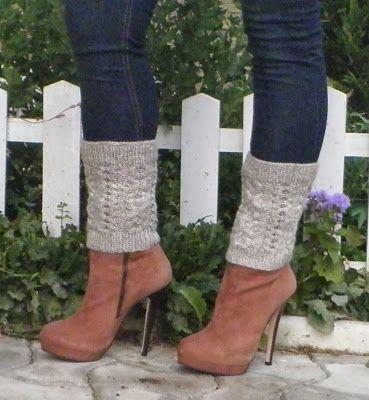 Free Knitting Pattern Leg Warmers Boot Cuff Httpnuageknitwear