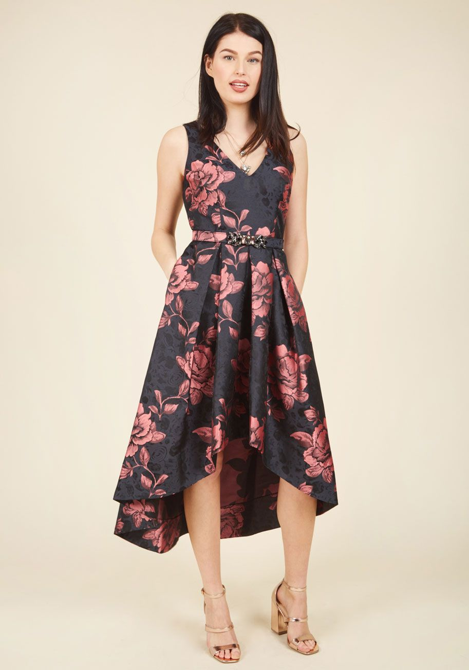 Slight change of plants dress modcloth vintage dresses and pink roses