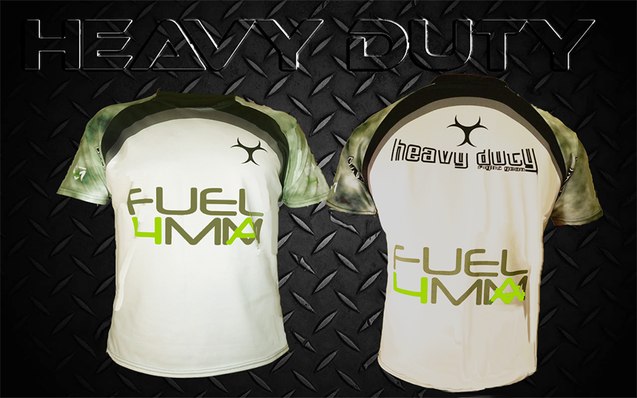 FUEL 4 MMA Official tee available from Heavy Duty Fight Gear.