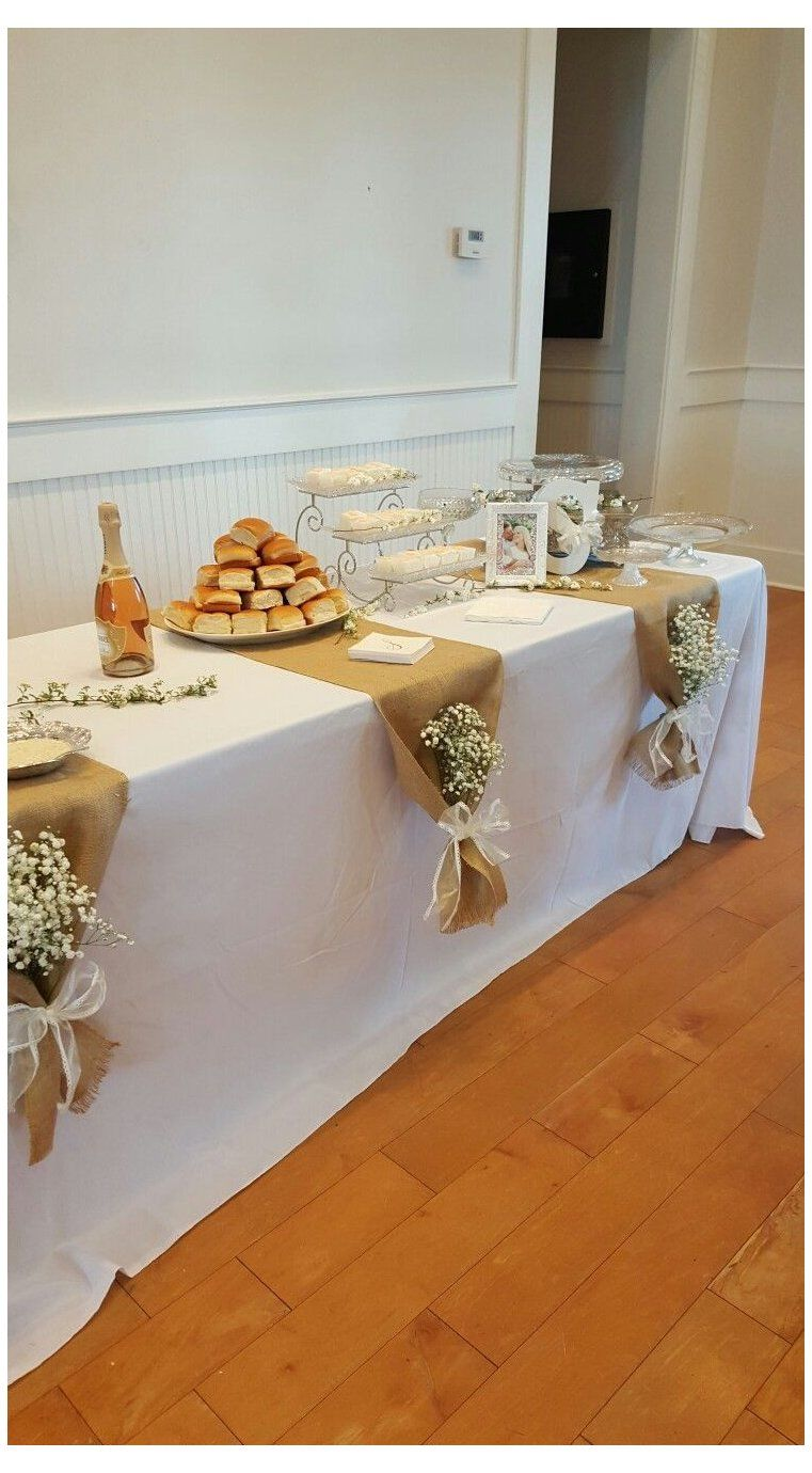 50th Wedding Anniversary Table Decoration Ideas : wedding, anniversary, table, decoration, ideas, White, #table, #cloth, #whitetableclothsetup, Mantel, Bod…, Wedding, Anniversary, Decorations,