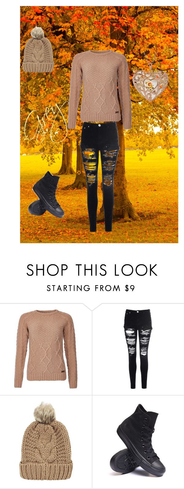 """""""~Grey~"""" by xgreywolfwarsx ❤ liked on Polyvore featuring Barbour, Glamorous, Chicnova Fashion and Converse"""