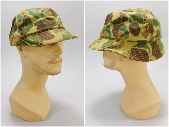 1960s Vintage Camo Cap   Carl Spackler Hat   Caddyshack Hat   Vintage  Hunting Cap   2255481d36f
