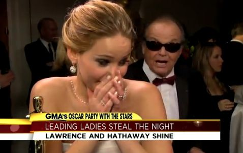 Jennifer Lawrence's Adorable Meeting with Jack Nicholson ...