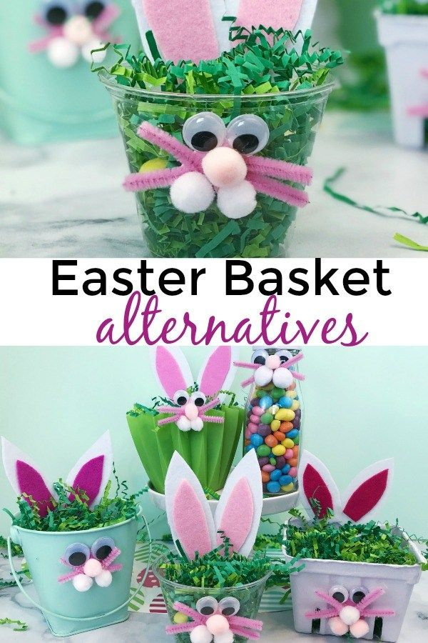 Adorable #Easter basket alternatives for gifting friends and coworkers. #EasterAlternatives #EasterTreats