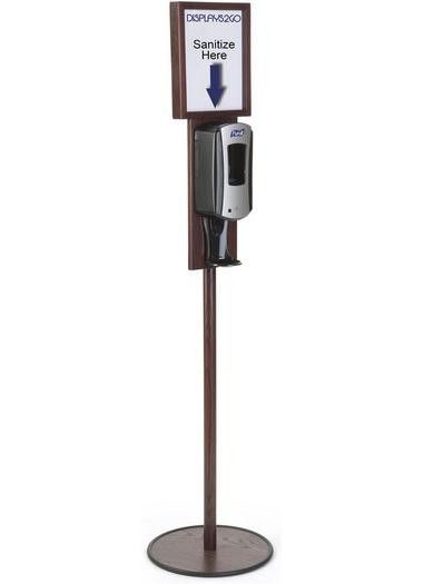 Hand Sanitizer Dispenser Holds 8 5 X 11 Sign Floor Standing