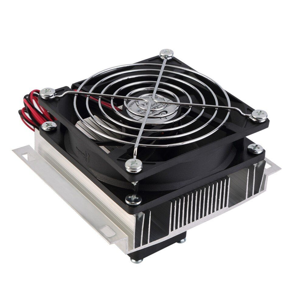 Thermoelectric Peltier Refrigeration Cooling System Kit Cooler Fan