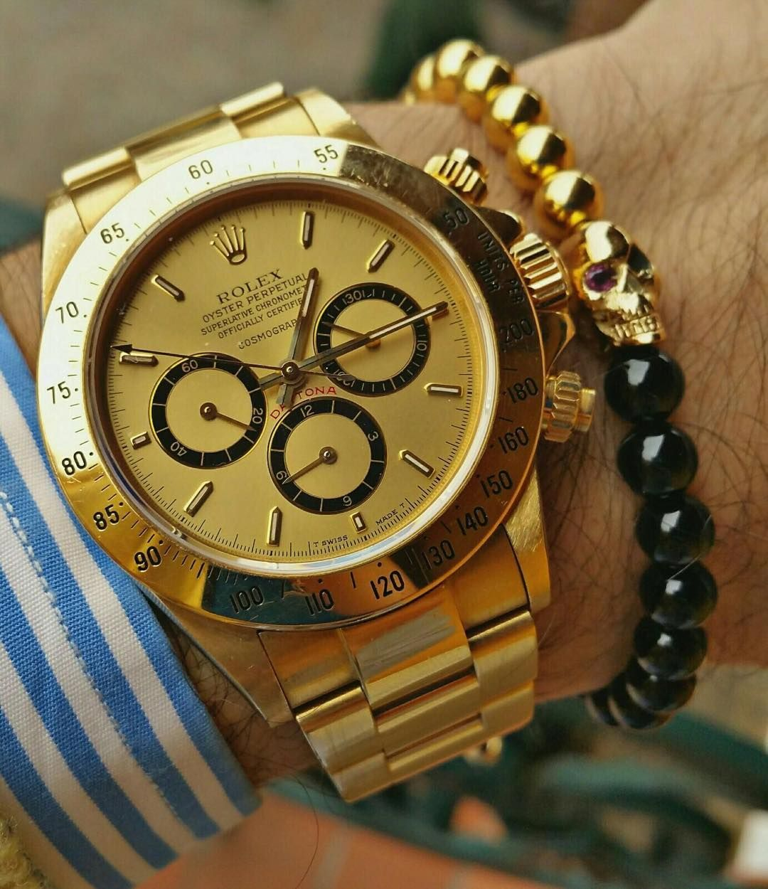 "9ade0f0d374 ""WristGame - Rolex Daytona x  goldenmagno Skull Bracelet Discover to  collection at"