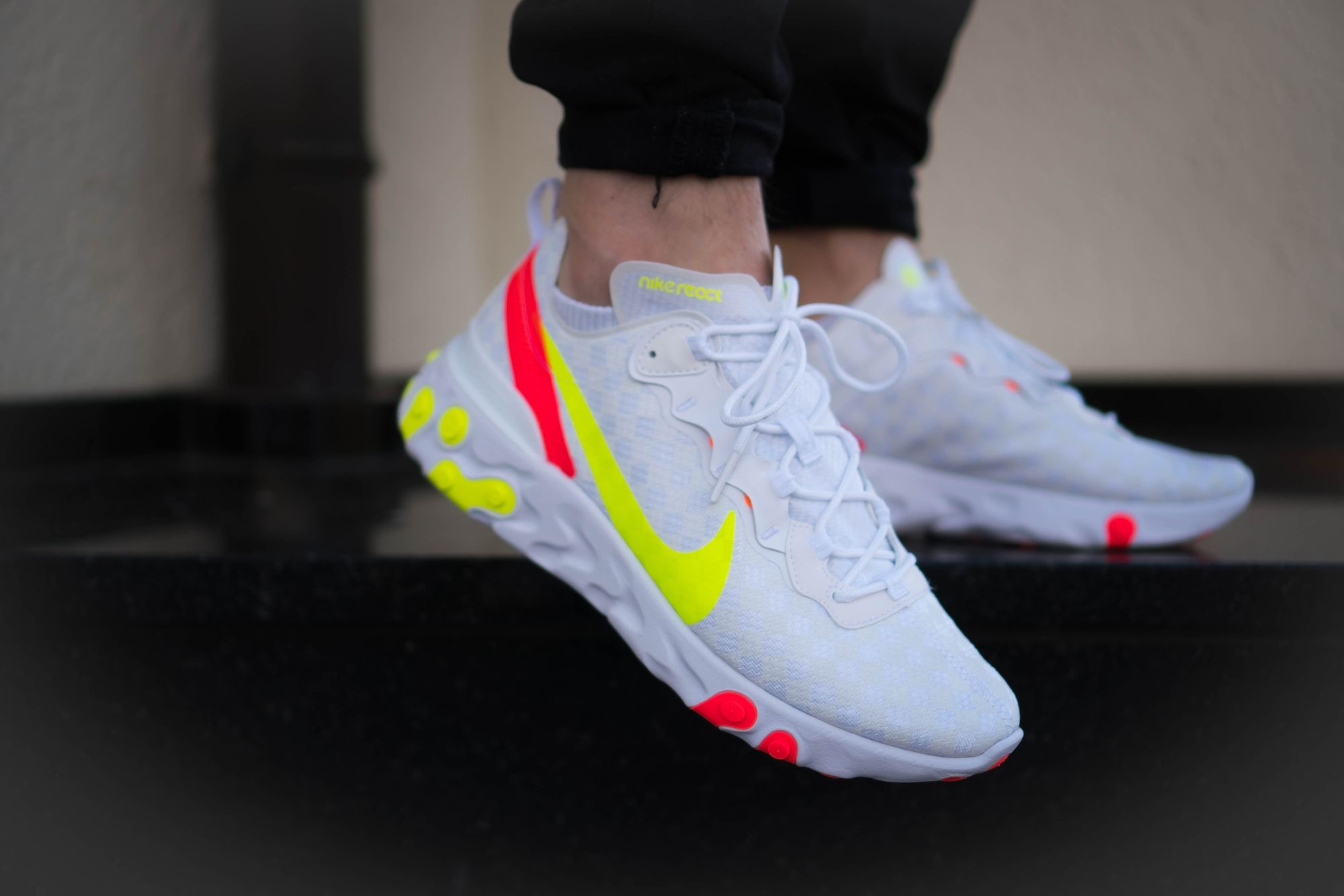 Rate the Nike React Element 55 White Volt 1 - 100. Go! Click the ...