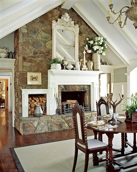 Fireplace Transformation Ideas. The Rock Fireplace With A