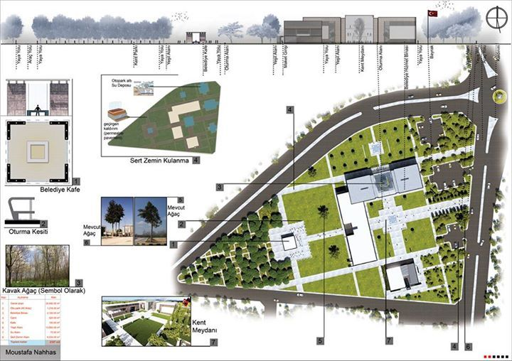 Municipality And Mosque Design Concept The Design Is Based On