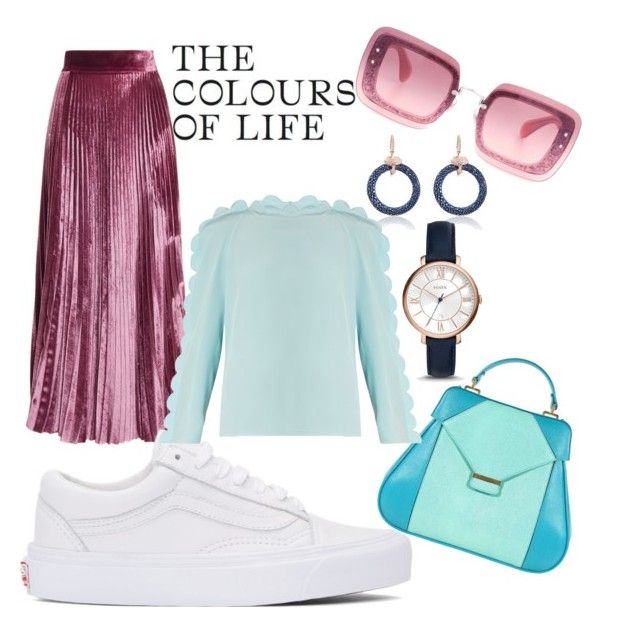 """""""The colors of life"""" by andreolam on Polyvore featuring LUISA BECCARIA, Vans, Aevha London, FOSSIL, Miu Miu and Fendi"""
