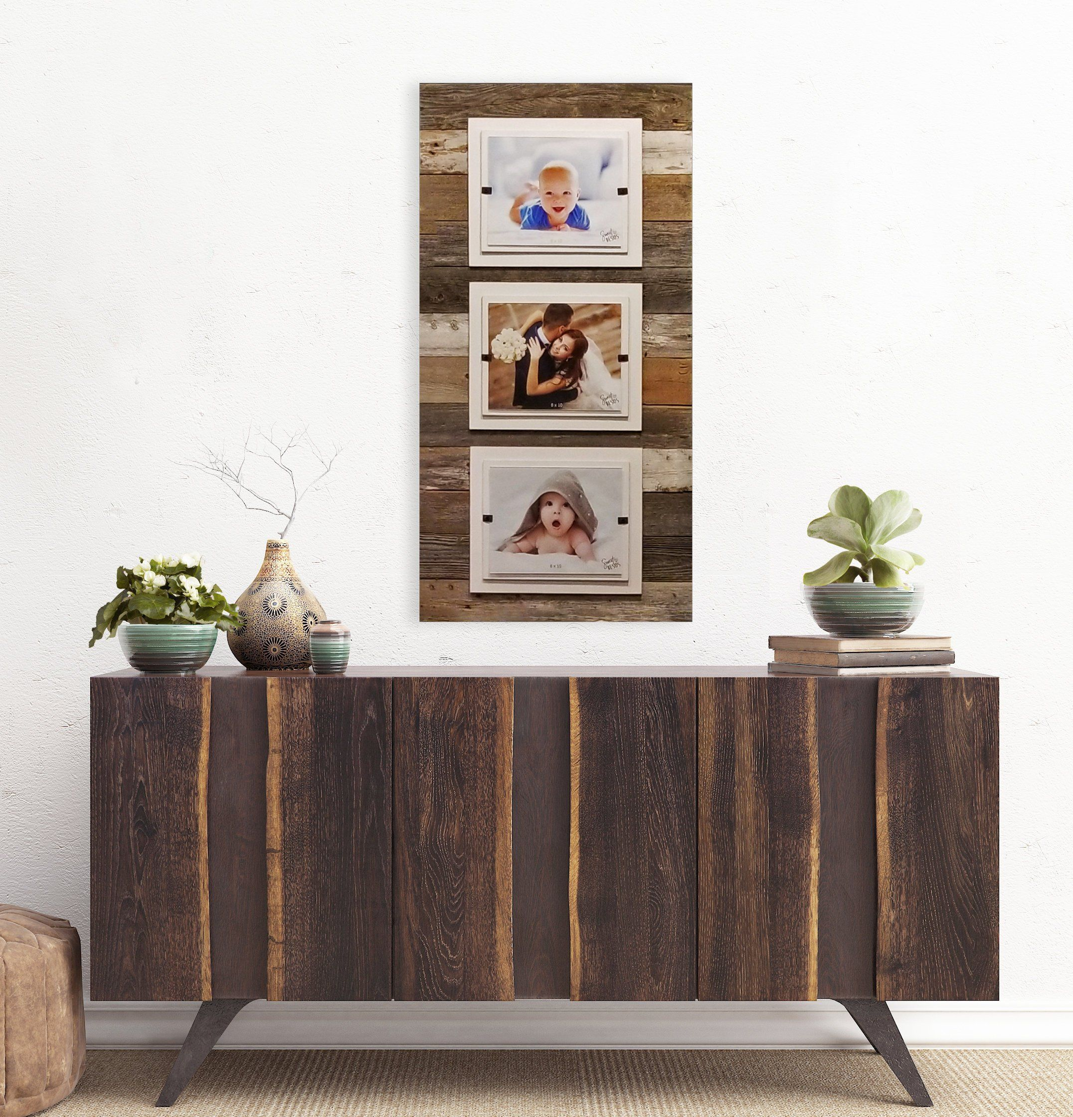 Extra Large Rustic Home Decor Triple 8 X 10 Picture Frame Reclaimed Wood Picture Frame Coastal Nautical Collage Frame Beach Frame Reclaimed Wood Picture Frames Rustic Reclaimed Wood Picture On Wood