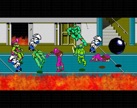 Video Game Art Print Teenage Mutant Ninja Tutles 2 By Arcadecache, $9.95