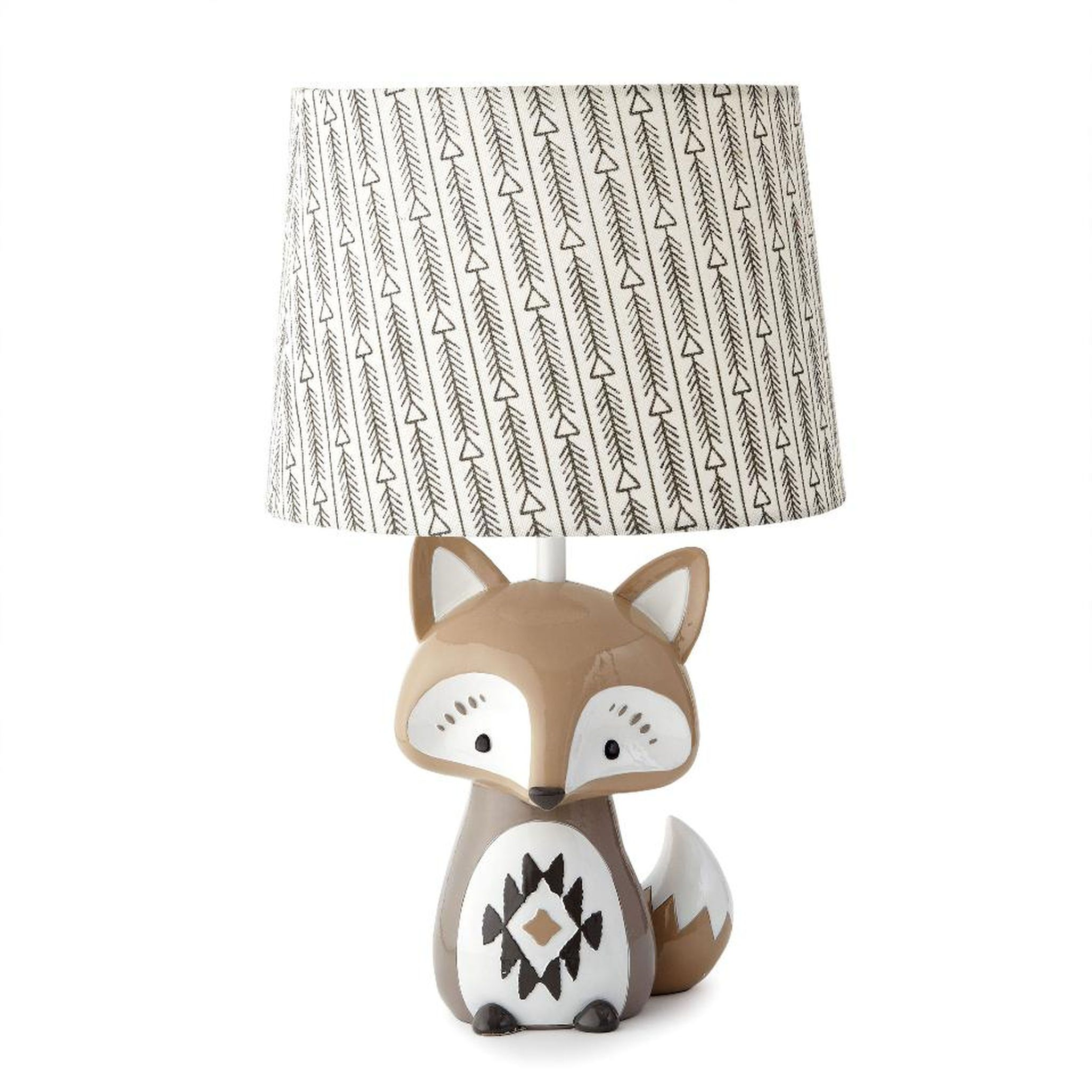 Levtex Baby Bailey Charcoal Arrow Print Lamp Shade And