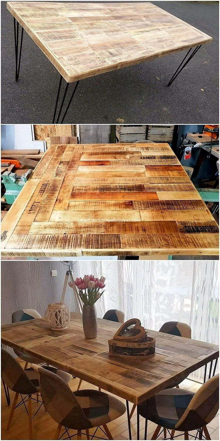 Wonderful Ideas Out Of Recycled Wooden Pallets Pallet Dining
