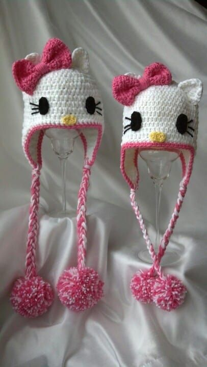 Hello Kitty Crochet Hat Pattern Free Video | Stricken