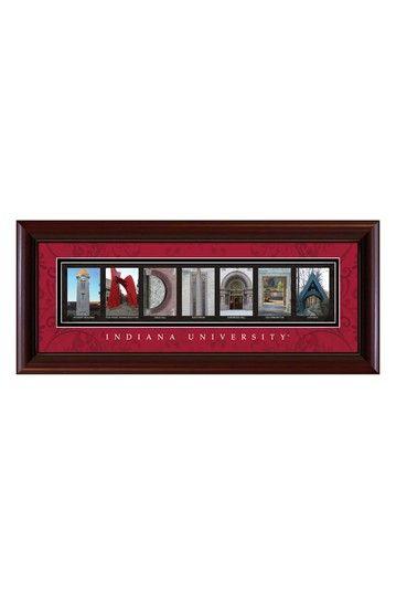 Pin By Elizabeth Folz On I U Indiana University Indiana Hoosiers Letter Wall Art