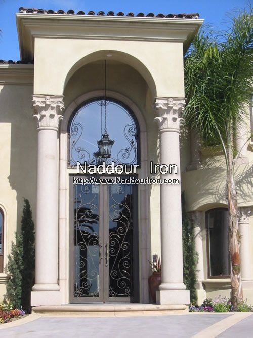 Wrought Iron Entry Doors Naddour Iron Front Doors Pinterest