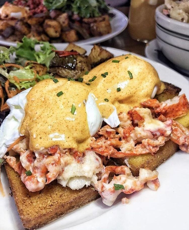 Eggs benedict in New York City