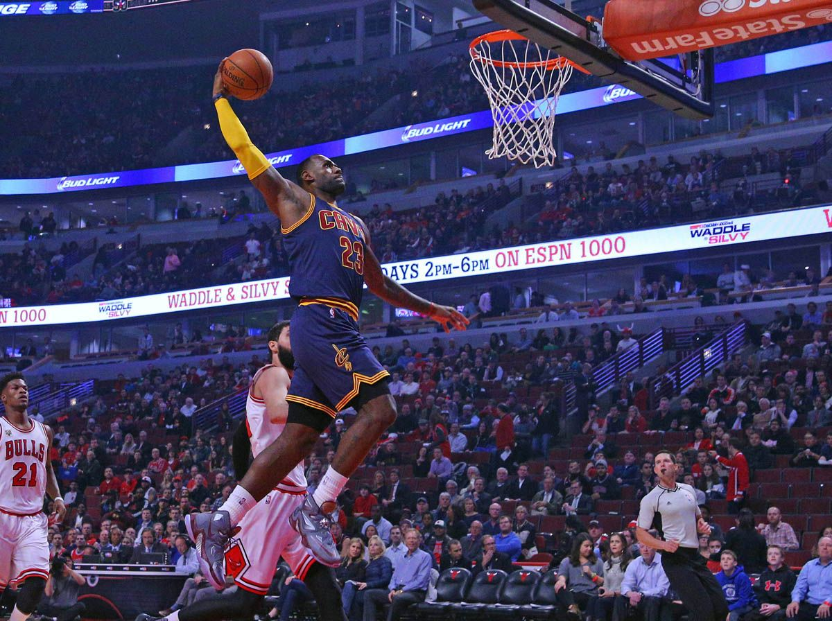 ff1bd680dba SoleWatch  LeBron James Debuts the  Opening Night  Nike LeBron 13 ...