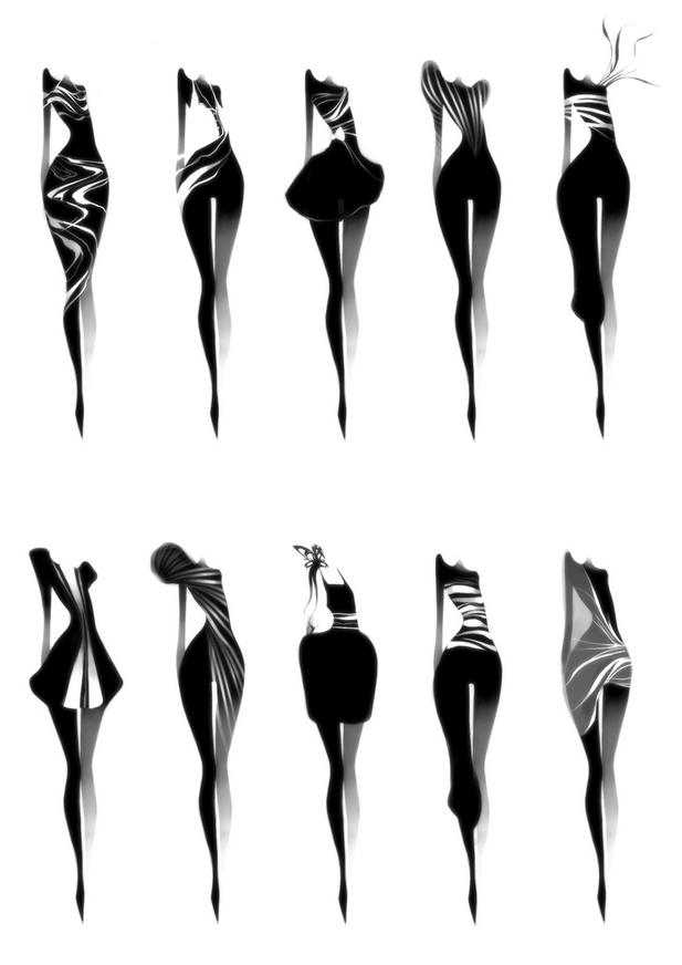 оригинальные картинки абстрактной женской фигуры купила себе высокие