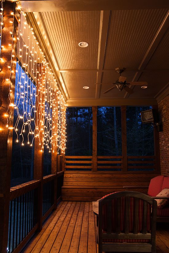 Why You Need Curtain Lights On Your Deck This Summer Hanging Curtains Curtain Lights Deck