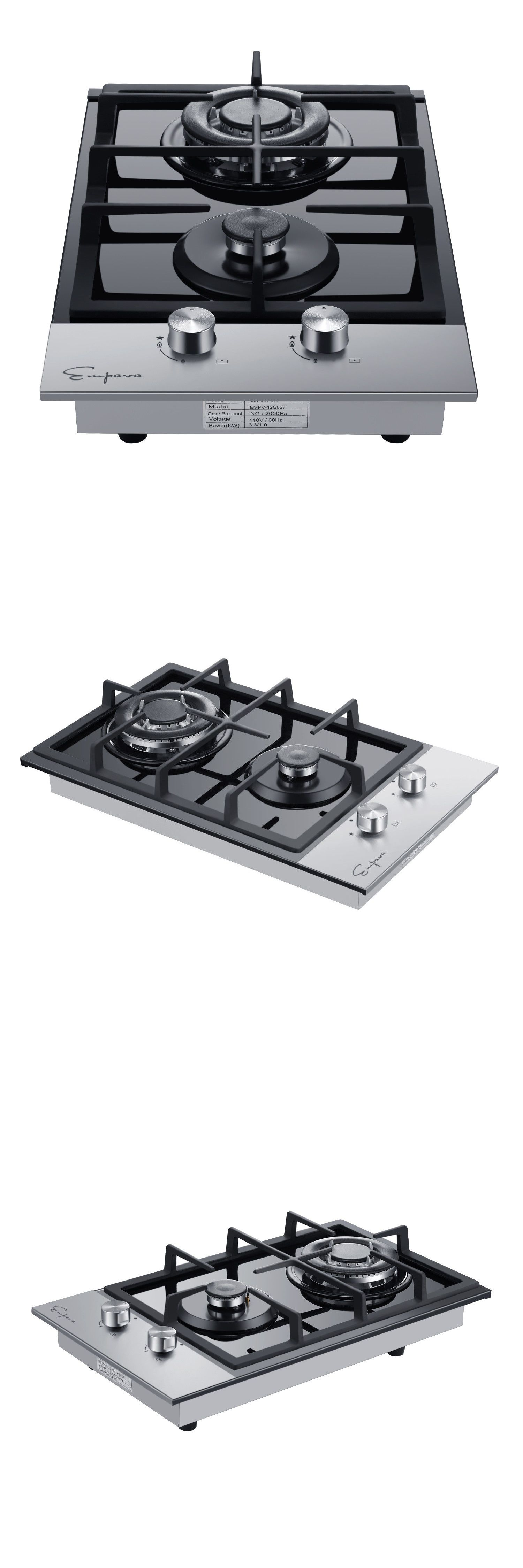Empava Protable 12 Built In Gas Cooktop Glass With Double Burners Stove Top 655100547872 Ebay Burner Stove Double Burner Cooktop