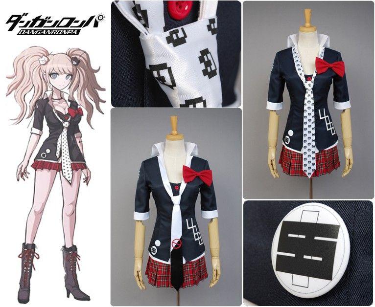 Danganronpa Dangan Ronpa Junko Enoshima Cosplay Costume outfit dress New