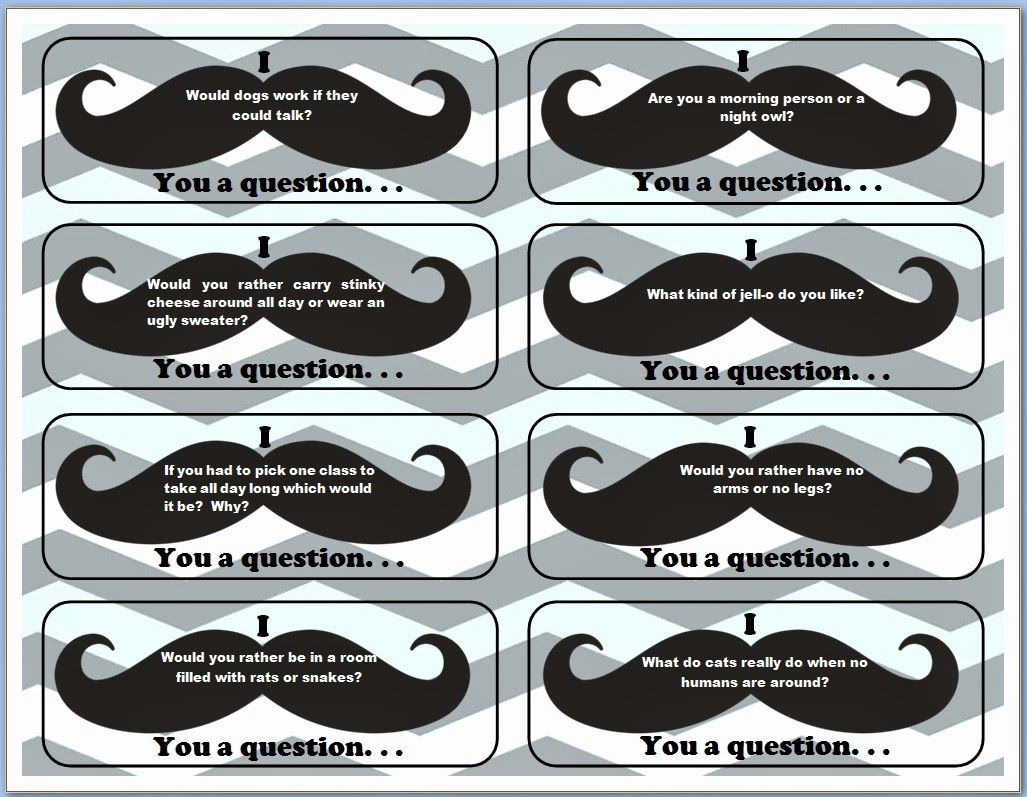 I Mustache You The Rules And A Few Questions