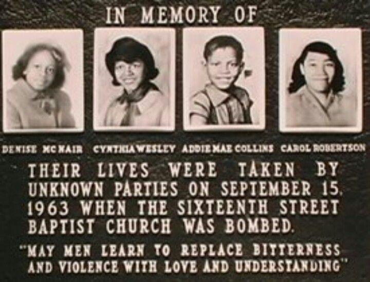 The 16th Street Baptist Church In Birmingham Alabama Was Bombed